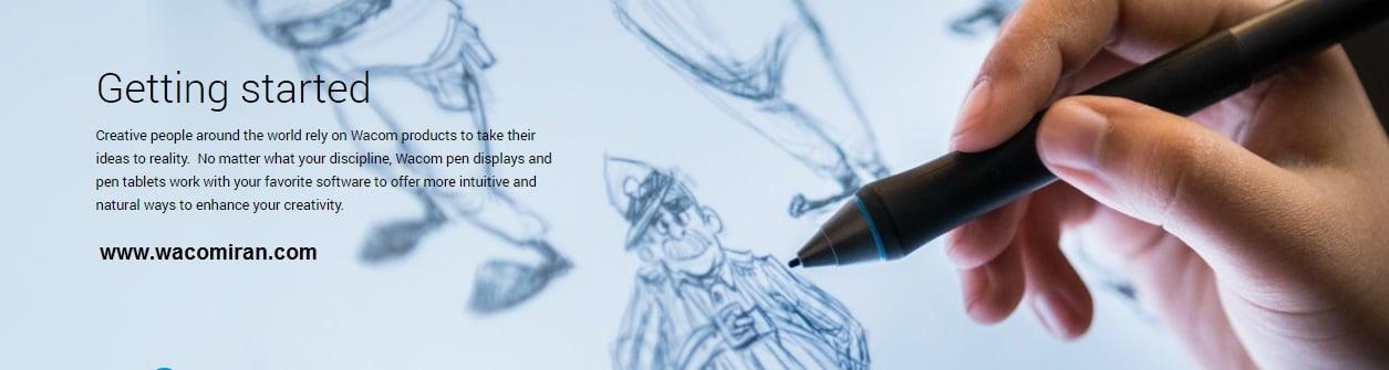 نقاشی با خودکار آبی ساده